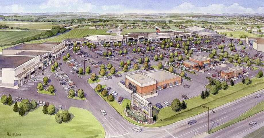 An artist's rendering of a revamped Eastgate Plaza. Photo: For The Telegraph