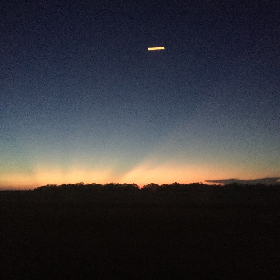 A San Antonio man said this photo caught 30 minutes north of Laredo, shows a UFO. Photo: Courtesy Marcelino Castillo