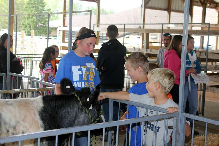 Huron County third graders were treated Tuesday to Project RED (Rural Education Day) at the Huron Community Fairgrounds. Sponsored by Huron County Farm Bureau, the day featured numerous demonstrations about local agriculture. Photo: Brenda Battel/Huron Daily Tribune