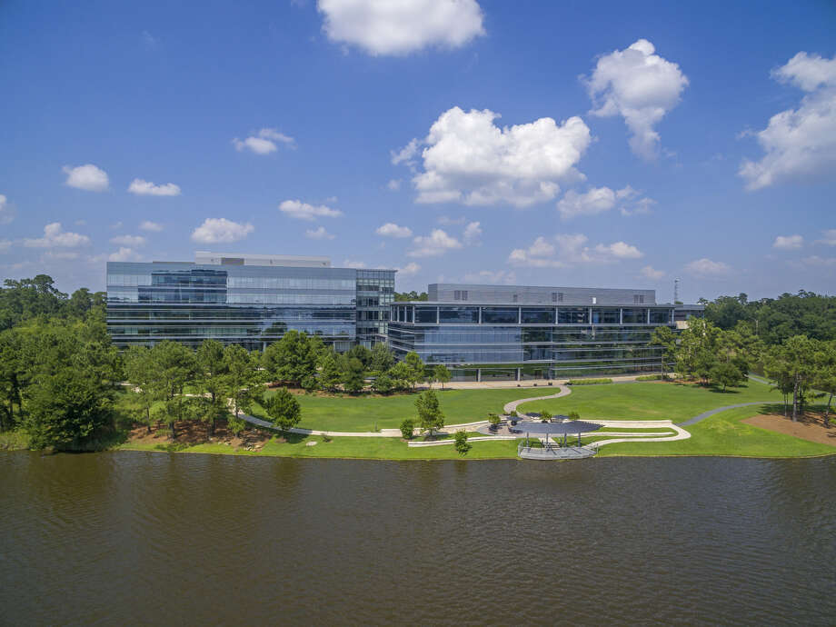 "The Howard Hughes Corp. will reposition the former Chicago Bridge & Iron campus in The Woodlands as ""Lake Front North in Hughes Landing."" Totaling 257,025 square feet, the two buildings on the north side of Lake Woodlands at 2103 Research Forest Drive. Photo: The Howard Hughes Corp."