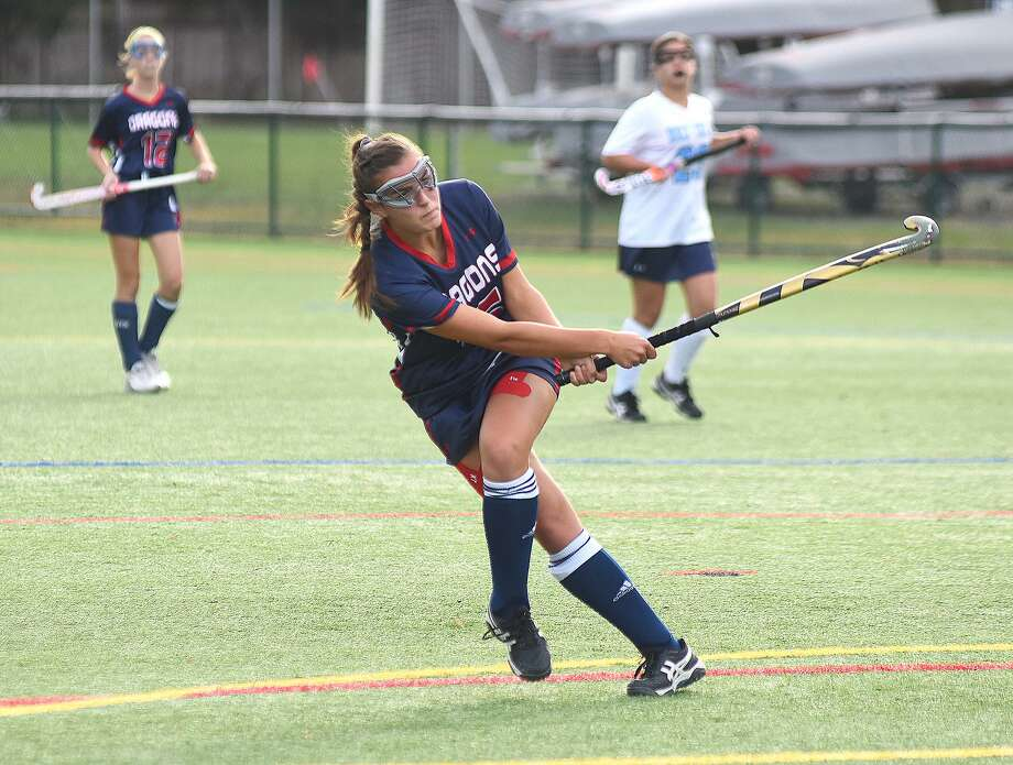Greens Farms Academy senior field hockey standout Lucy Holzinger, a resident of Norwalk, is one of the top fall sports athletes for the Dragons this season. Photo: Contributed Photo/Greens Farms Academy / GFA Athletic Communications