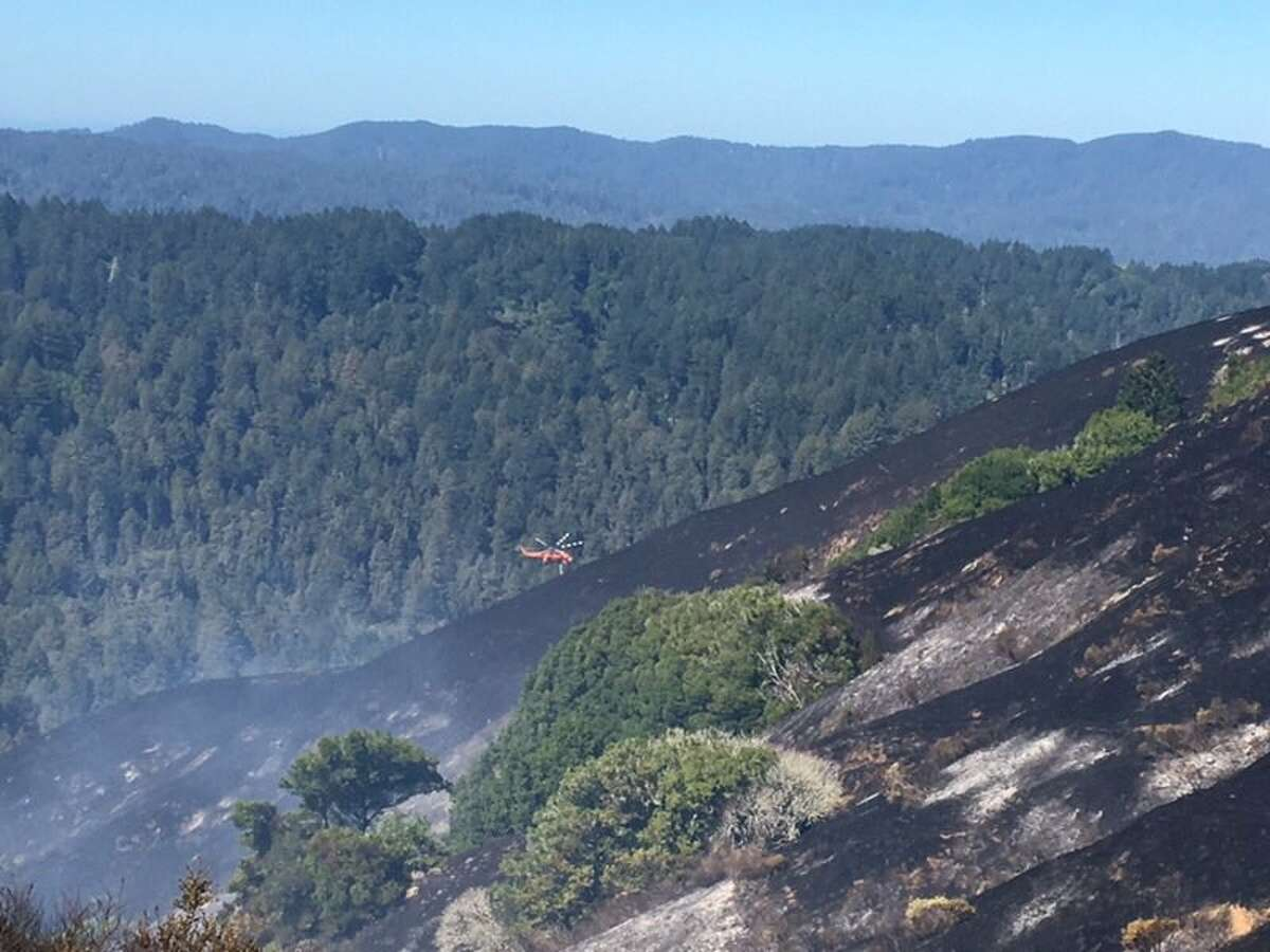 Tomales Volunteer Fire, Sonoma Valley Fire and CHPMarin are assisting in containing the Irving Fire on Tues, Sept. 11, 2018 in Marin County.