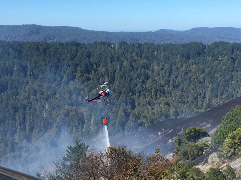 Tomales Volunteer Fire, Sonoma Valley Fire and CHP Marin are assisting in containing the Irving Fire on Tues, Sept. 11, 2018 in Marin County. Photo: Marin County Fire