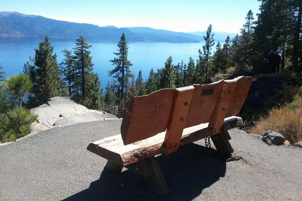 Stateline Fire Overlook A short yet steep paved path starts in Nevada and takes you to an old fire outlook in California where you can take in sweeping views of Tahoe's North Shore and Crystal Bay.