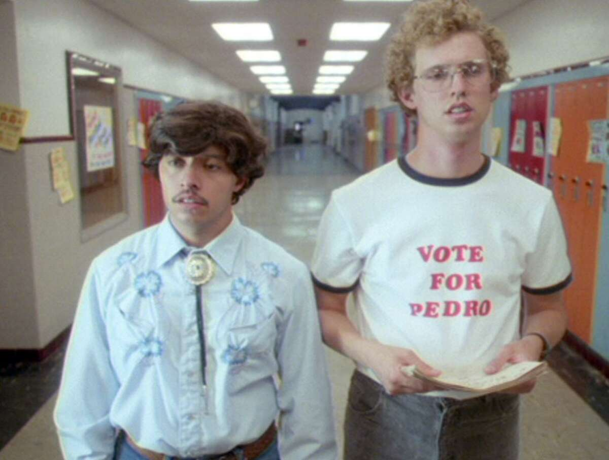 Efren Ramirez and Jon Heder (righ) in a scene from