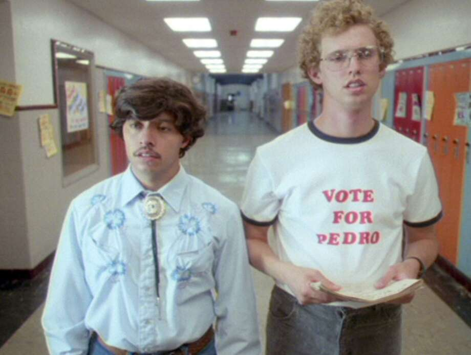 "Efren Ramirez and Jon Heder (righ) in a scene from ""Napoleon Dynamite"" Photo: FOX SEARCHLIGHT PICTURES"