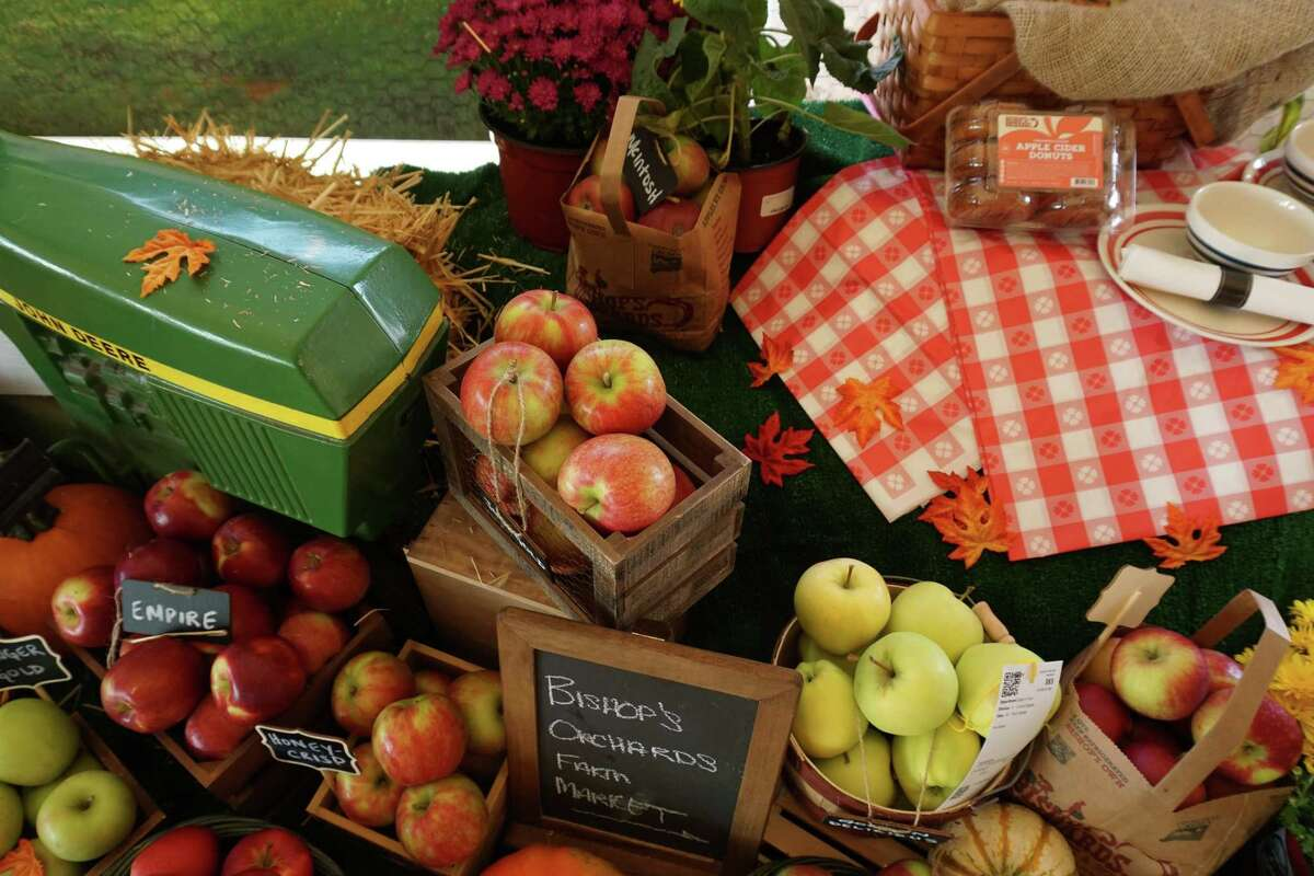 A Bishop's Orchards display at the Guilford Fair.