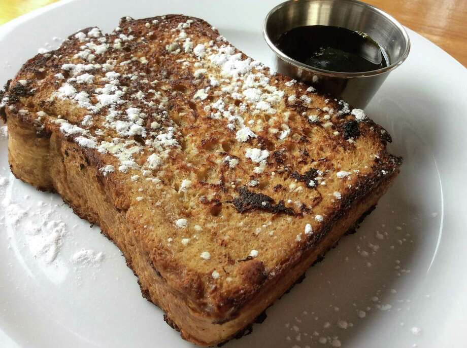 Spiced Apple Cider French Toast, one of the entrees served for breakfast at Buttermilk Falls Inn & Spa Photo: Stephen Fries /