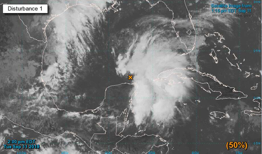 PHOTOS: Satellite images show storm nearing Gulf of Mexico  A weather disturbance is expected to form into a tropical system over the Gulf of Mexico over the next five days starting Tuesday, Sept. 11. 