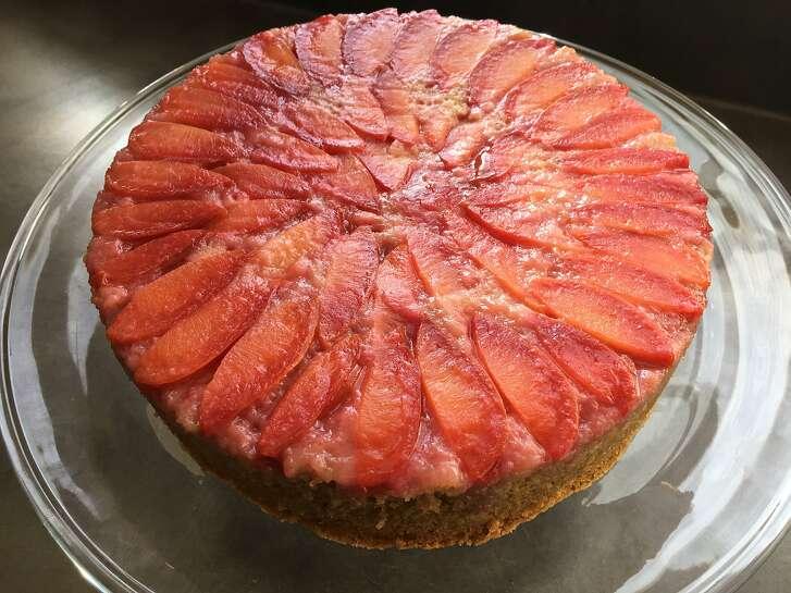 Batter Bakery's Plum Mesquite Upside-Down Cake.
