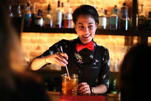 Bourbon & Branch general manager DiDi Saiki makes a drink in San Francisco, Calif. on Thursday, September 6, 2018.