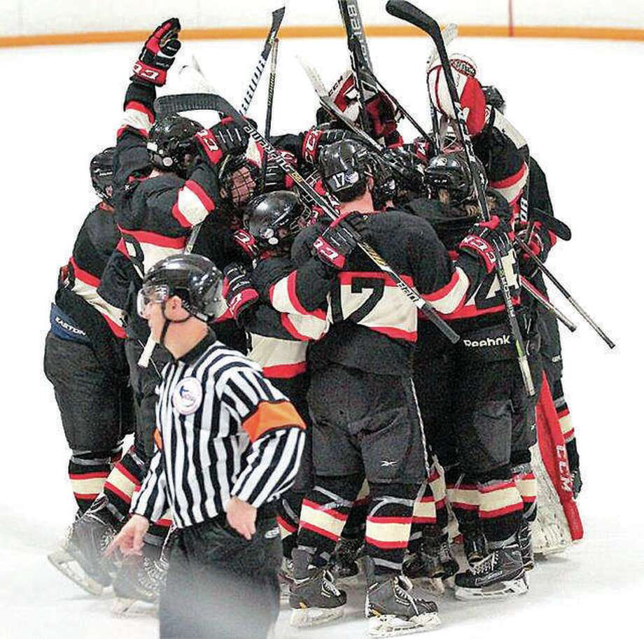 The SIUE Cougars hockey team will begin its season this weekend against Lewis University with home games Friday at 6:15 p.m. and Saturday at 3 p.m. at the East Alton Ice Arena. Photo: Telegraph File Photo