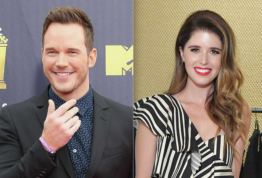 Chris Pratt (L) and Katherine Schwarzenegger (R). Photo: Getty Images
