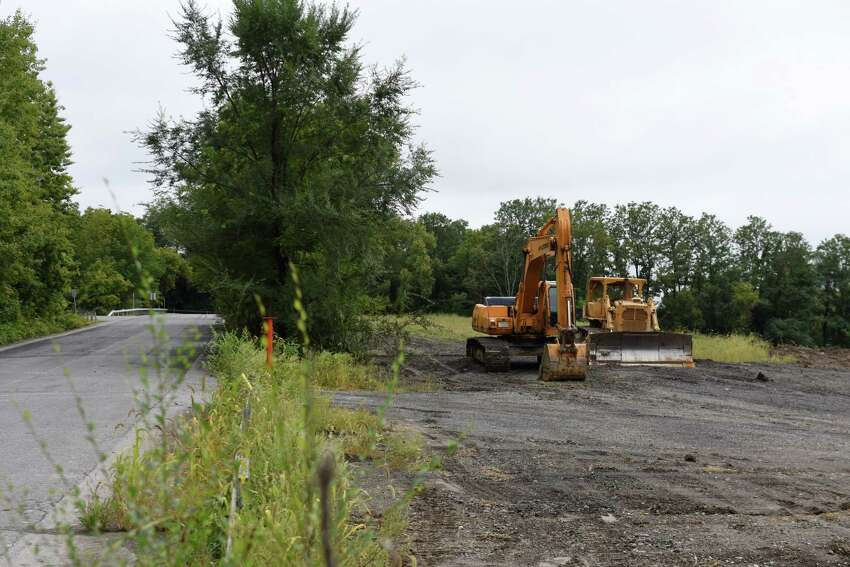 Land is cleared on Temple Lane where Regeneron plans to add several new structures to its growing campus on Tuesday, Sept. 11 2018, in East Greenbush, N.Y. (Will Waldron/Times Union)