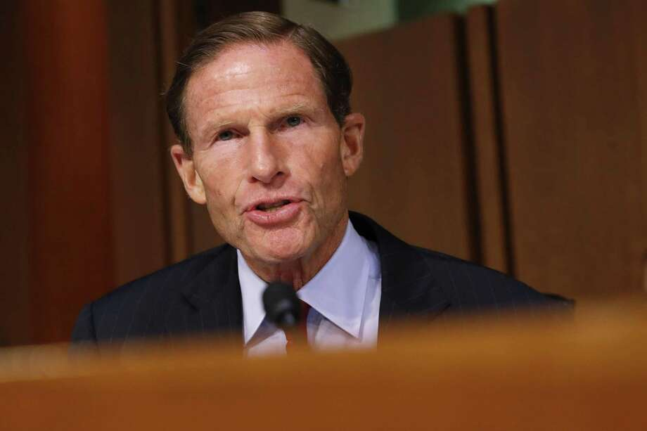 Sen. Richard Blumenthal, D-Conn., questions President Donald Trump's Supreme Court nominee, Brett Kavanaugh, during the third round on the third day of Kavanaugh's Senate Judiciary Committee confirmation hearing, Thursday, Sept. 6, 2018, on Capitol Hill in Washington, to replace retired Justice Anthony Kennedy. Photo: Jacquelyn Martin / Associated Press / Copyright 2018 The Associated Press. All rights reserved.