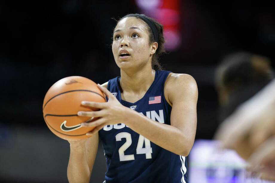 UConn's Napheesa Collier survived the latest cut for the U.S. Women's National Team. Photo: Icon Sportswire Via Getty Images / ©Icon Sportswire (A Division of XML Team Solutions) All Rights Reserved