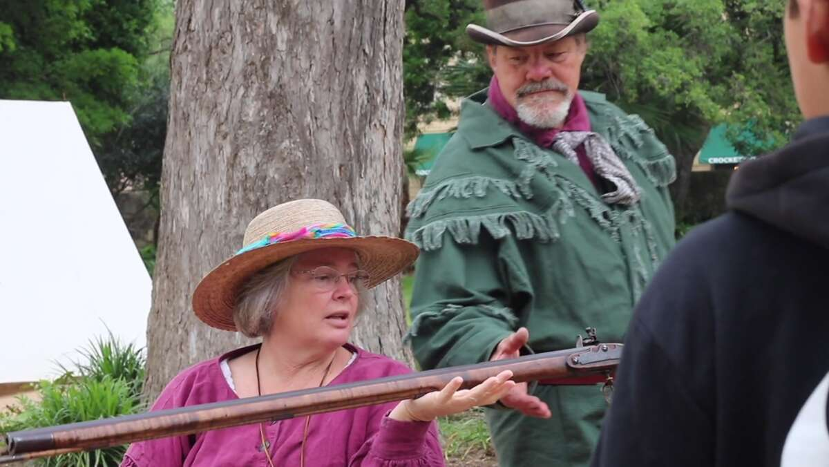 John Potter and his wife Carol act as living historians at the Alamo.