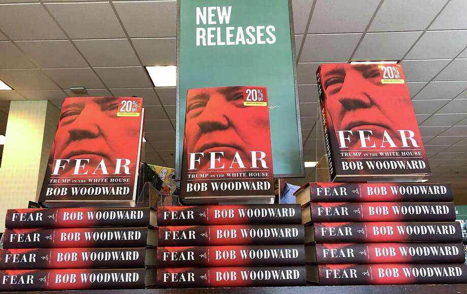 "The newly released book ""Fear"" by Bob Woodward is displayed at a Barnes and Noble bookstore on Sept. 11, 2018. Photo: Justin Sullivan /Getty Images / 2018 Getty Images"