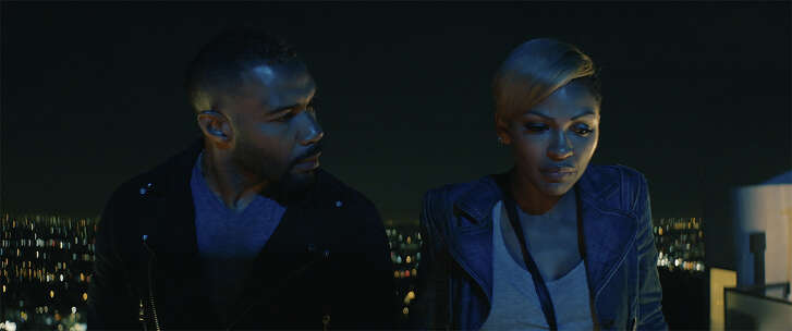 """In the drama """"A Boy, A Girl, A Dream,"""" Cass (Omari Hardwick) and Frida (Meagan Good) meet on the night of Donald Trump's election."""
