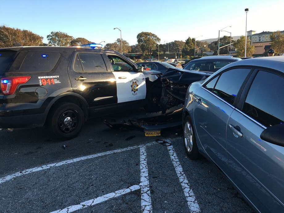 Donjuan Goode, 27, of El Cerrito, is facing felony charges after allegedly crashing head-on into an occupied patrol car and fleeing from police through a San Bruno mall parking lot on Monday, Sept. 10, 2018. Photo: Courtesy Of The San Bruno Police Department /