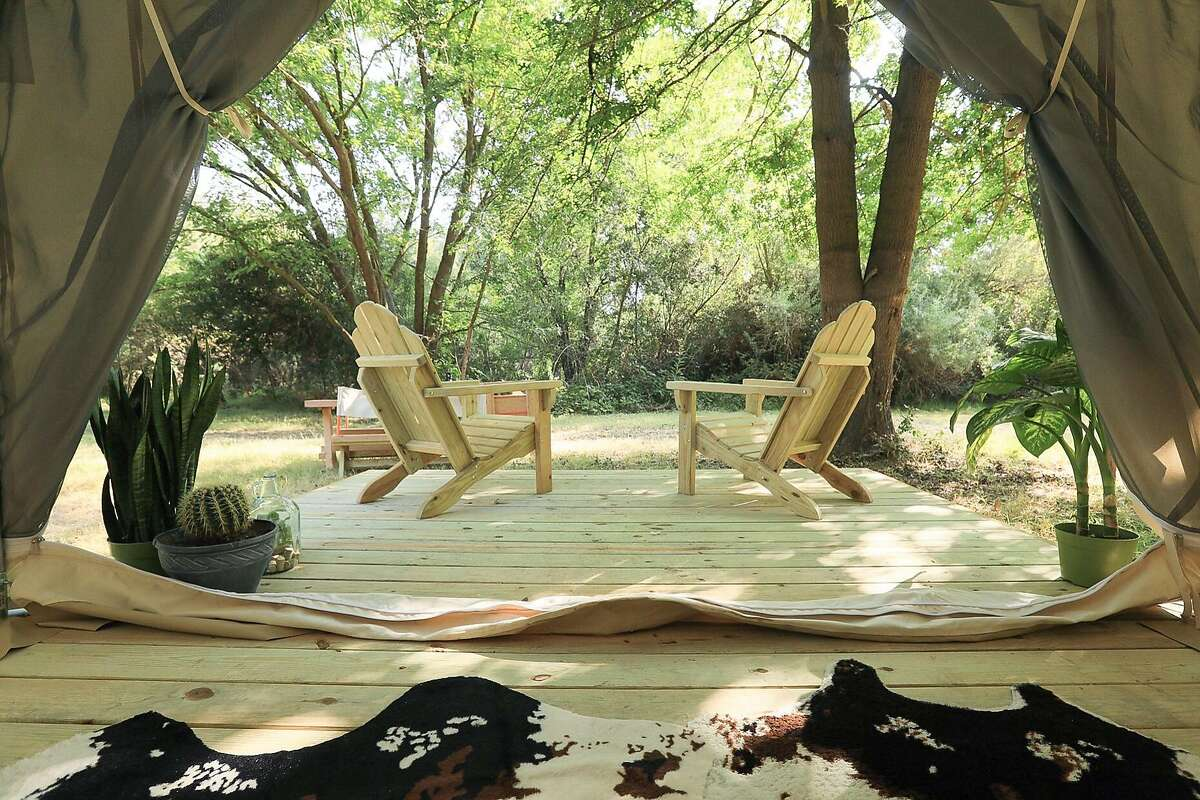 The Vineyard is a site listed on Tentrr, an app for booking glamping sites on remote, private properties. The campsite is in the heart of Lodi Wine Country.