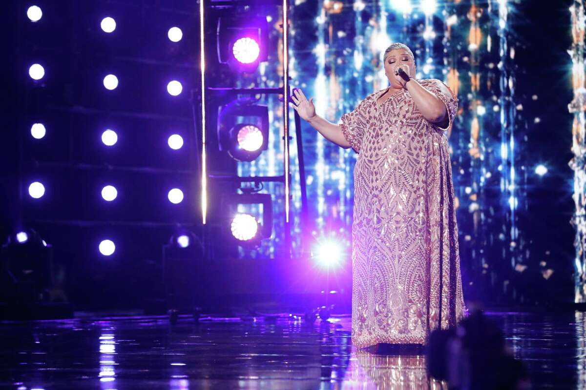Christina Wells performs 'Natural Woman' at the 'America's Got Talent' semifinals.