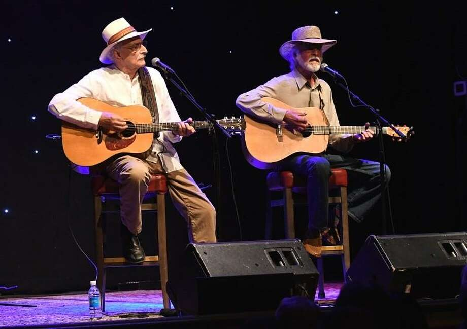 "Musicians Mike Brewer and Tom Shipley, better known as Brewer & Shipley, are shown performing on stage at the Infinity Music in Norfolk during their Sept. 9 concert. The folk duo enjoyed their biggest success during the late sixties and the early Seventies and were best known for their intricate guitar work and vocal Harmonies. Their biggest commercial hits included the songs ""One Toke Over The Line"" and ""Tarkio Road"". To learn more Brewer & Shipley visit www.brewerandshipley.com Photo: John Atashian / Contributed Photo"