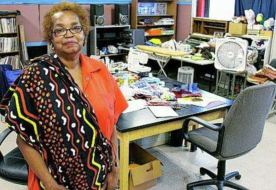Retired banker Paulette Shipp is a volunteer who sews costumes and teaches arts and crafts classes at the Sunshine Cultural Arts Center. Teri Maddox and Sylvester Lee started working with drummers and dancers in East St. Louis more than 40 years ago. Lee studied under legendary dancer and anthropologist Katherine Dunham before starting his own ensemble. Photo: Teri Maddox | Belleville News-Democrat (AP)