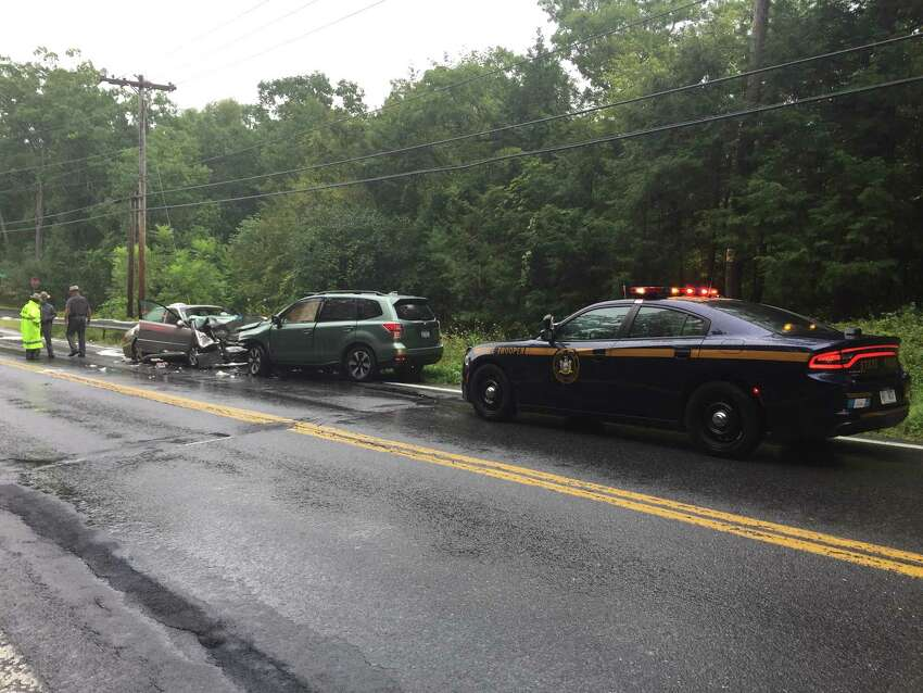 Three people were taken to Albany Medical Center after a car and SUV collided on Sept. 10, 2018, inColumbia County, State Police said. About 5:45 a.m., a1998 Honda Accord was southbound on State Route 9G near Oak Hill Road in Livingston when it left its lane and struck a 2016 Subaru Forester, troopers said.