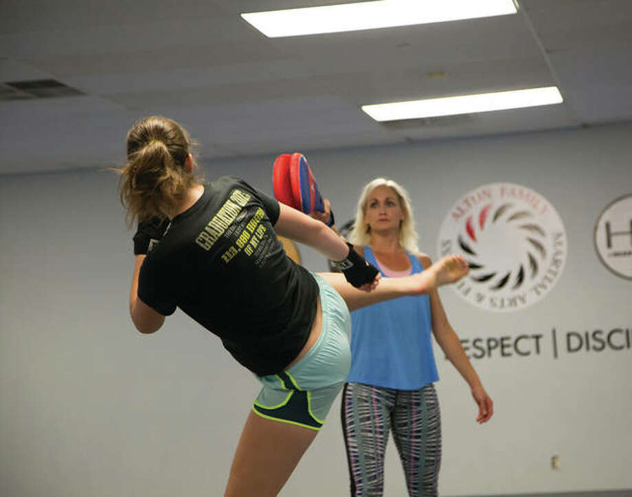 Alton Family Martial Arts & Fitness instructors will lead self defense courses at Lewis and Clark in September in honor of National Campus Safety Awareness Month. Photo: For The Intelligencer