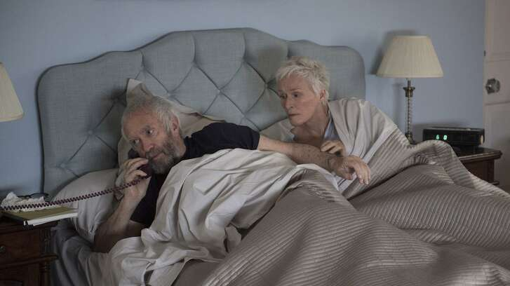 """Glenn Close, right, and Jonathan Pryce in """"The Wife."""""""