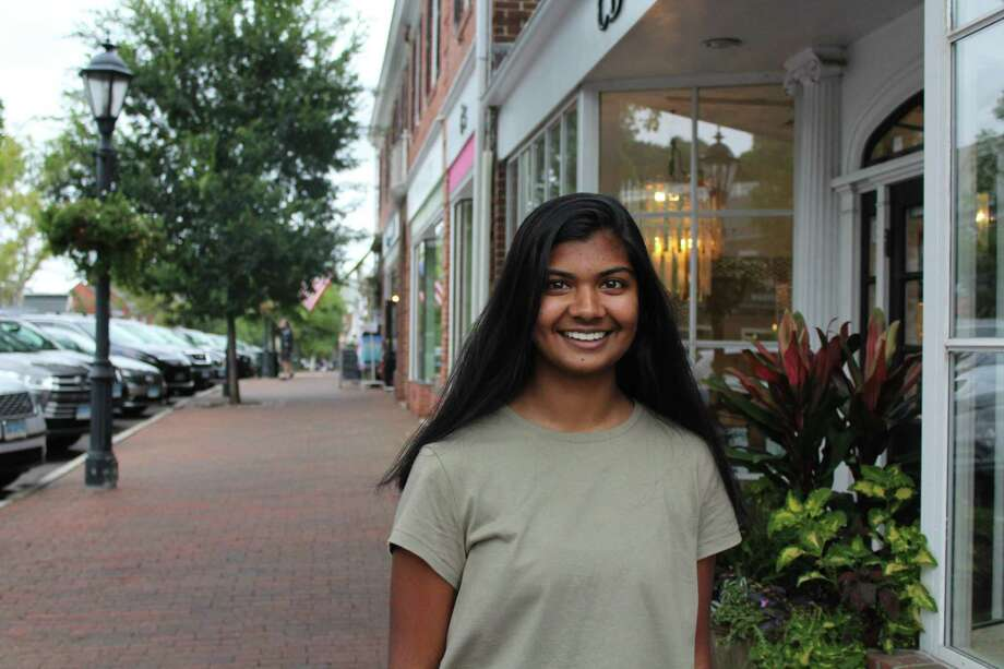 Esha Dagli is a senior at New Canaan High School and is a member of the Girl Scouts. Photo: Humberto J. Rocha / Hearst Connecticut Media / New Canaan News