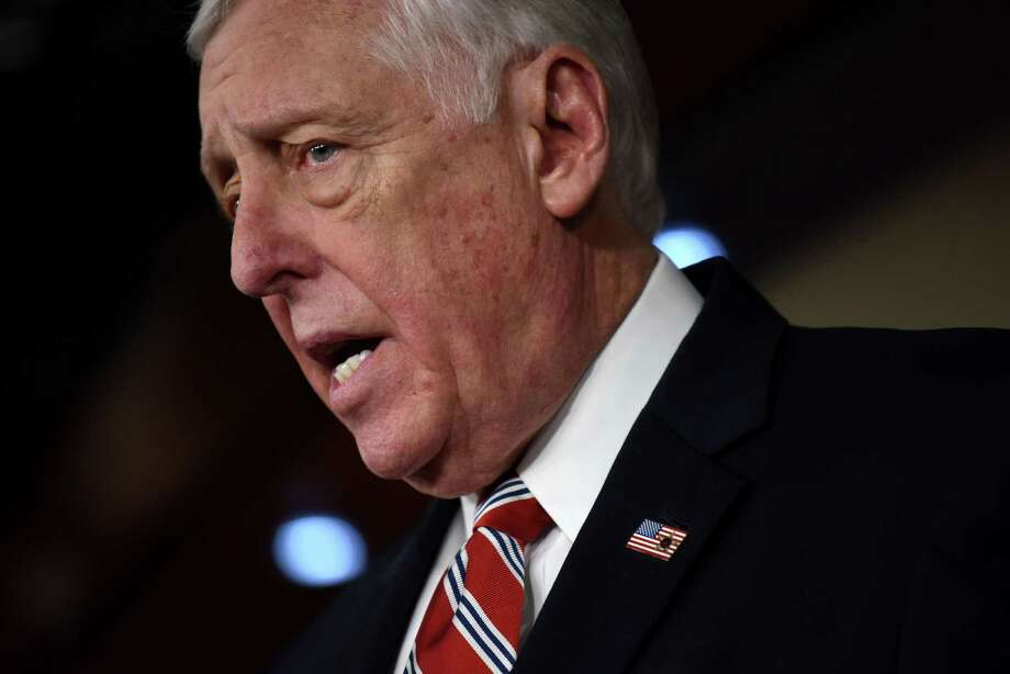 House Minority Whip Steny Hoyer, D-Md., speaks during a press conference in Washington on February 15, 2017. Photo: Washington Post Photo By Michael Robinson Chavez / The Washington Post