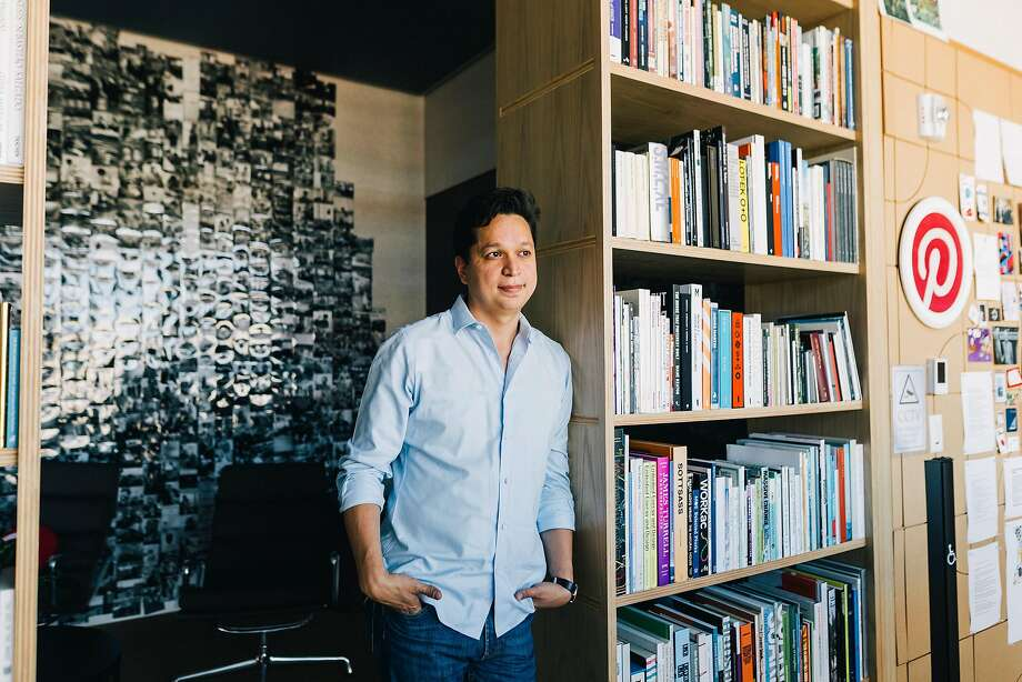 Ben Silbermann, the chief executive of Pinterest, in San Francisco, Aug. 31, 2018. Pinterest has rejected Silicon Valley's aggressive, hype-driven way of doing business. But its slow-and-steady approach has long frustrated some investors. (Anastasiia Sapon/The New York Times) Photo: ANASTASIIA SAPON;Anastasiia Sapon / New York Times