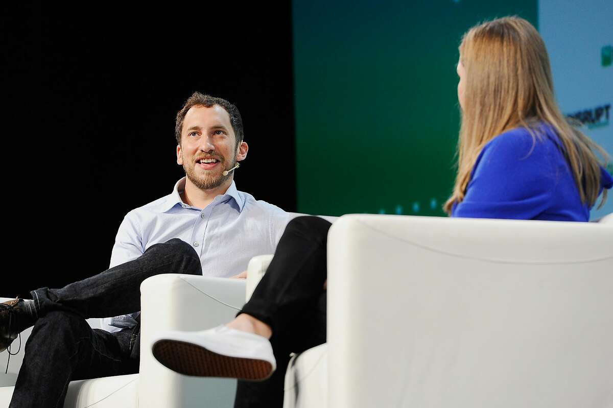 SAN FRANCISCO, CA - SEPTEMBER 05: JUUL Founder & CPO James Monsees (L) and moderator Jordan Crook speak onstage during Day 1 of TechCrunch Disrupt SF 2018 at Moscone Center on September 5, 2018 in San Francisco, California. (Photo by Steve Jennings/Getty Images for TechCrunch)