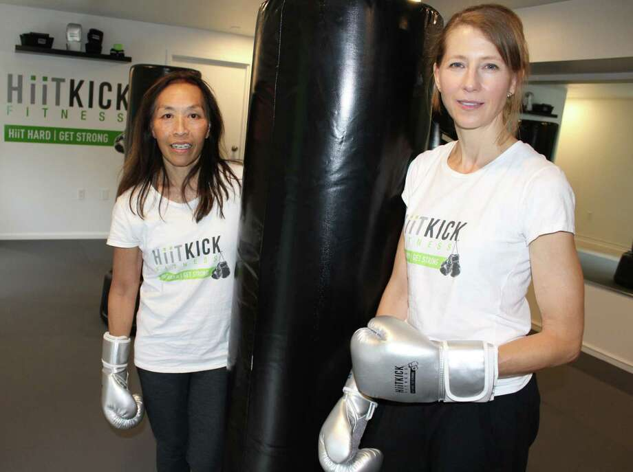 Suzie Clifford and Amy Liang opened HiiTKick Fitness, a high-intensity interval training kickboxing studio in Wilton on Sept. 8, 2018. Photo: Pat Tomlinson / Hearst Connecticut Media