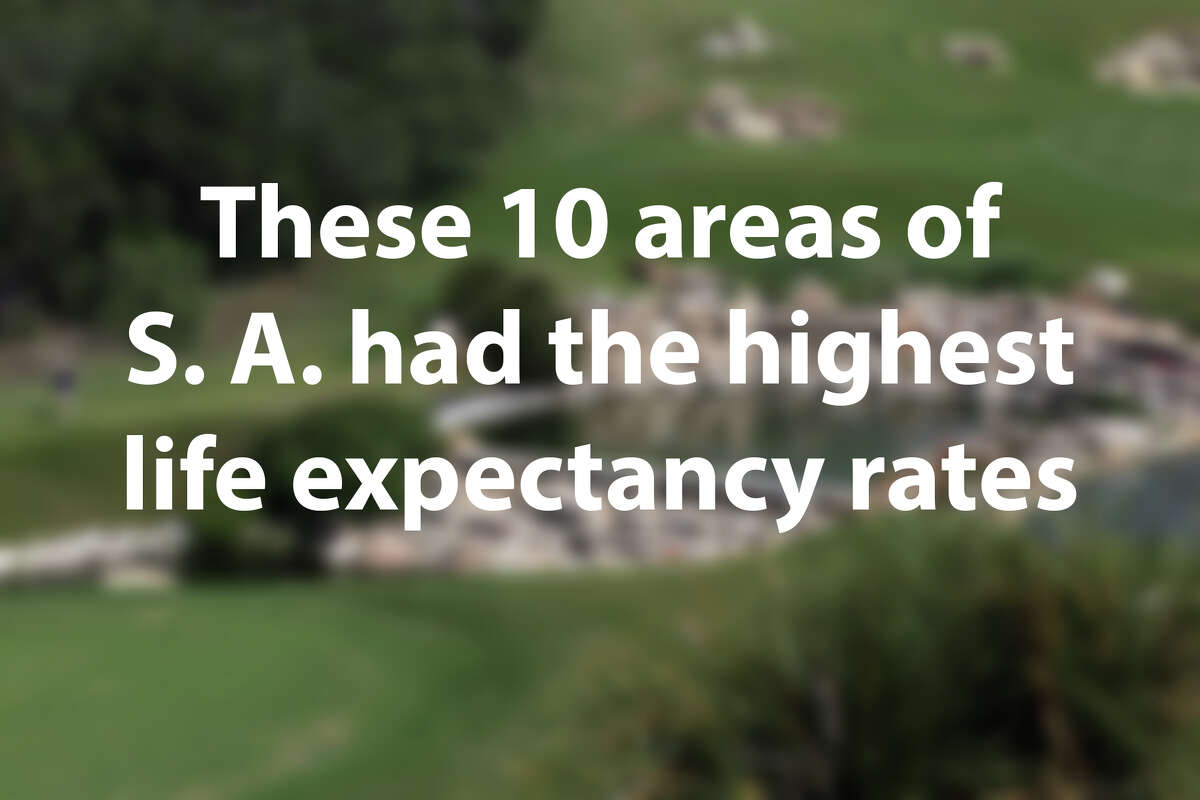 The Center for Disease Control and Prevention released data showing life expectancy by census tract. Click through the slideshow to see the 10 areas of San Antonio with the highest life expectancies, according to the data.