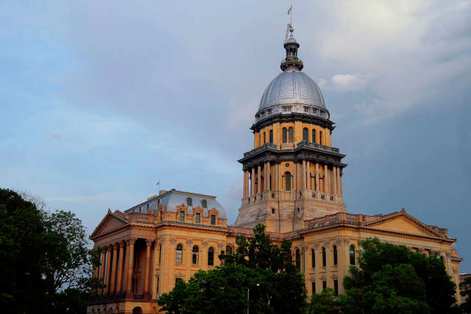 The Illinois State Capitol is seen during sunset in Springfield. AP Photo/Seth Perlman