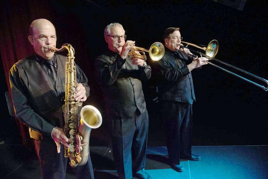 Saxophonist Dr. Mark Meyers, trumpet player Steve Schankman and trombonist, Tom Vincent of The Fabulous Motown Revue.