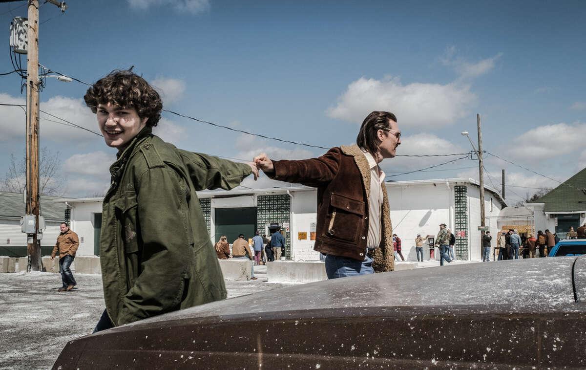 Richie Merritt and Matthew McConaughey in 'White Boy Rick'