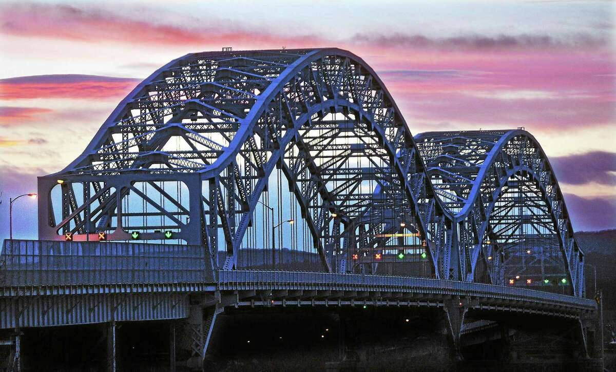The Charles J. Arrigoni Bridge, built in 1938, spans the Connecticut River between Middletown and Portland. A state Department of Transportation project, expected to begin in the spring, will install 8-foot-high anti-suicide barriers along the entire length of the 3,240-foot-long structure.