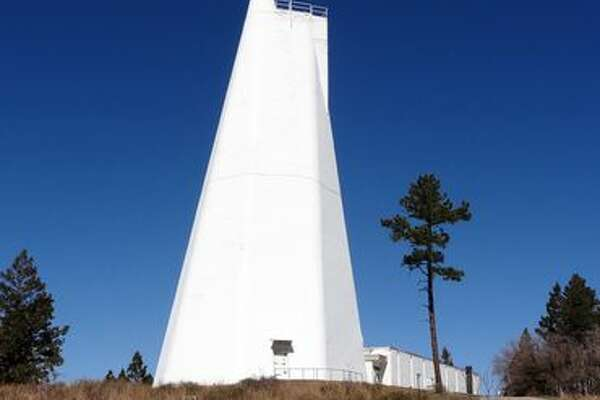The Dunn Solar Telescope at the Sunspot Solar Observatory hides most of itself underground.