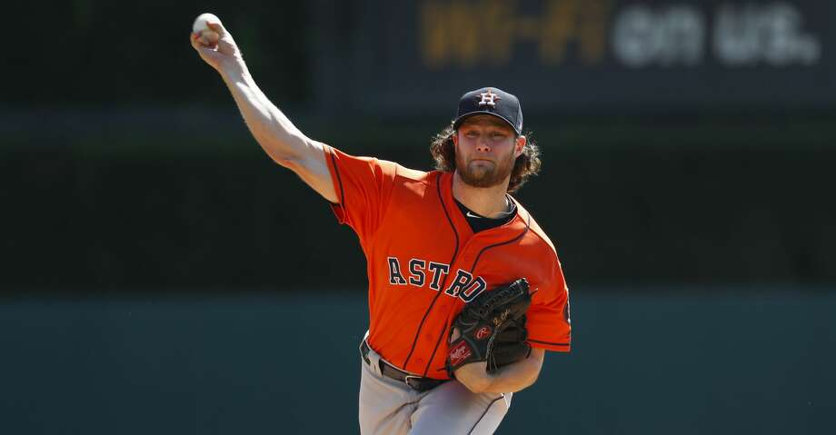 PHOTOS: Astros 5, Tigers 4 Houston Astros pitcher Gerrit Cole throws a warmup pitch against the Detroit Tigers in the first inning of a baseball game in Detroit, Wednesday, Sept. 12, 2018. (AP Photo/Paul Sancya) Browse through the photos to see action from the Astros' win over the Tigers on Wednesday. Photo: Paul Sancya/Associated Press