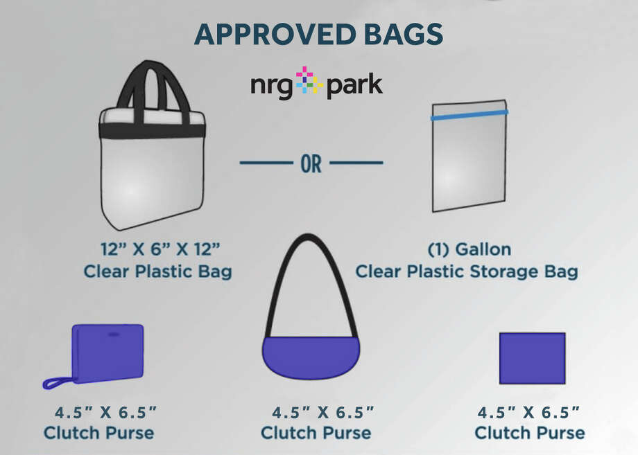 Approved bags that can be taken in to the Beyonce and Jay-Z shows at NRG Stadium in Houston. Photo: NRG Park