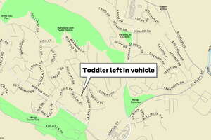A toddler died Tuesday after being left for hours in a vehicle on Hardie Drive in Moraga.