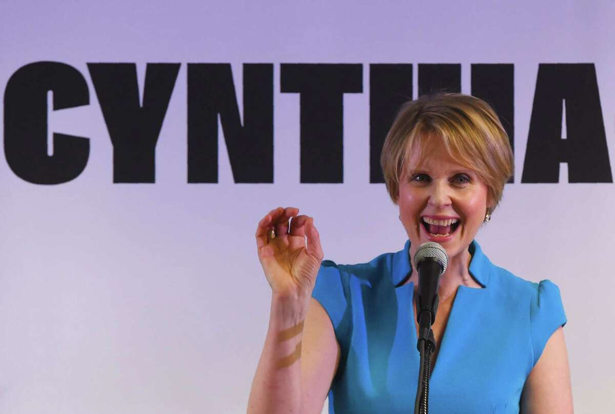 Democratic gubernatorial hopeful Cynthia Nixon spent less than $2.6 million on her unsuccessful challenge for the party's nomination. (Photo by TIMOTHY A. CLARY / AFP)TIMOTHY A. CLARY/AFP/Getty Images