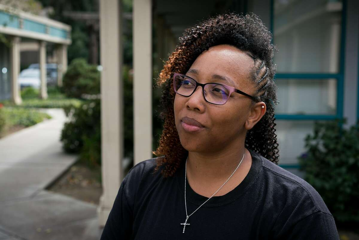 Tamisha Walker, 36, of Antioch, poses for a portrait at the Safe Return Project office in Pittsburg, Calif. on Wednesday, September 12, 2018. Walker, a co-founder and executive director of the Safe Return Project says her goal is to,