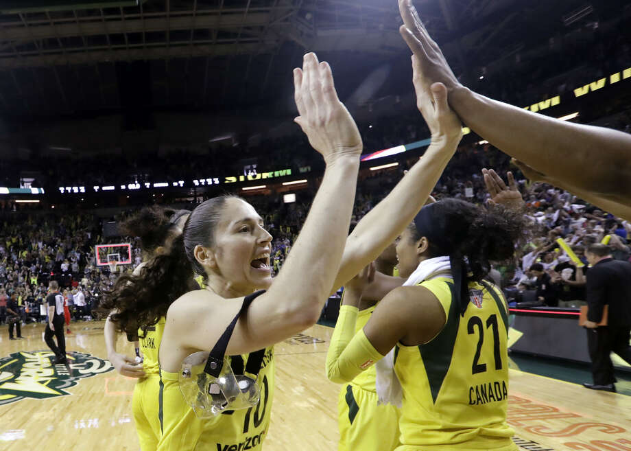 The Seattle Storm won their third WNBA championship with a three-game sweep of the Washington Mystics.  Photo: Elaine Thompson/Associated Press