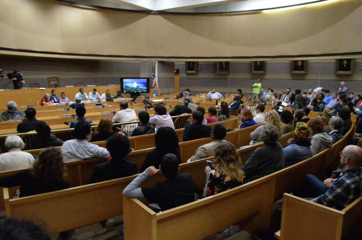A hearing about the APT Foundation was held in front of the Human Services Committee at City Hall Wednesday.