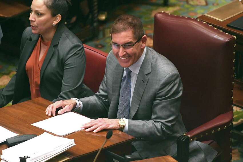 New York State Senator Jeff Klein is seen in the Senate Chamber at the Capitol on Monday, June 4, 2018 in Albany, N.Y. (Lori Van Buren/Times Union)